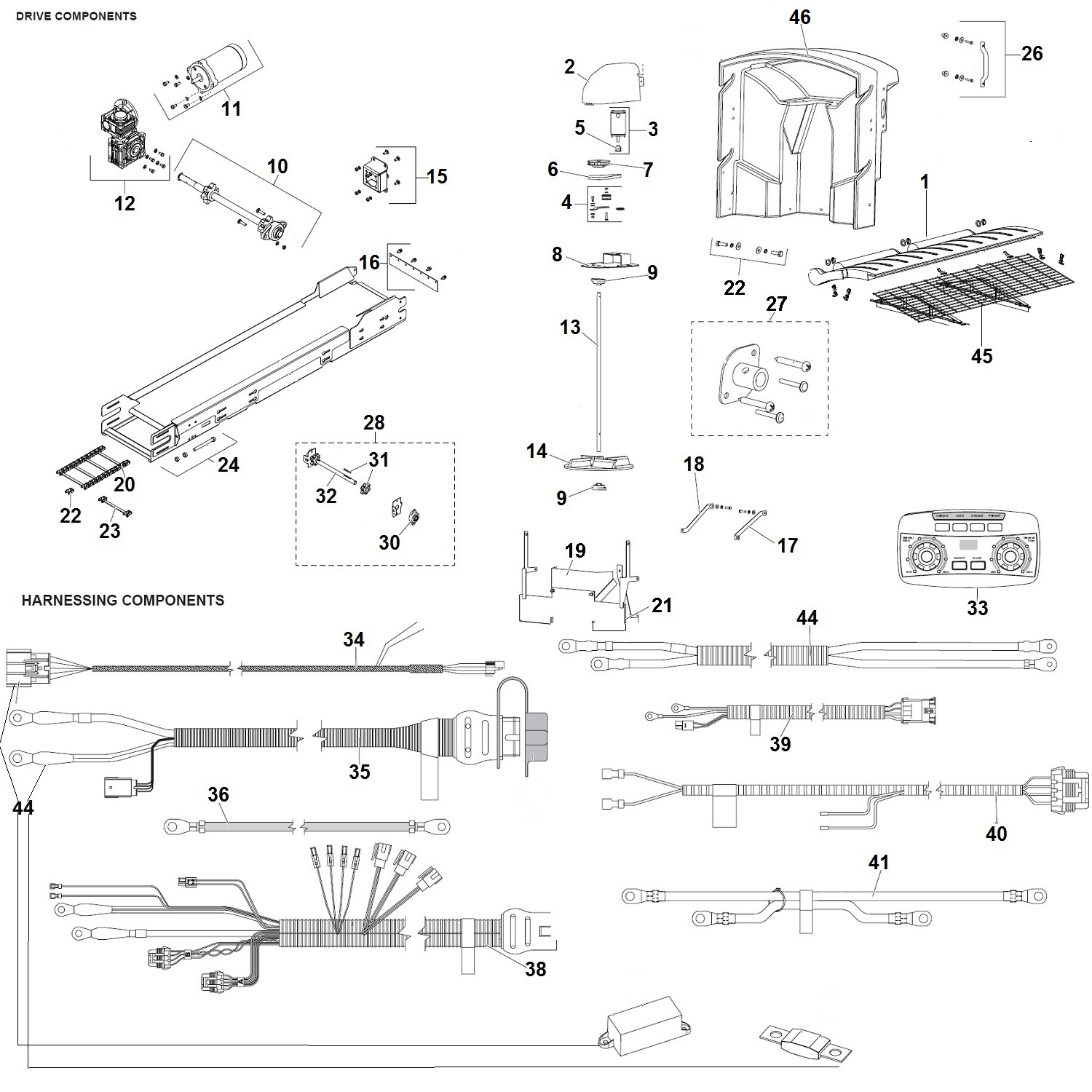 Fisher Poly Caster Salt Spreader Parts Diagram / Schematic