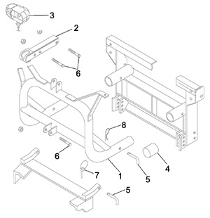 Meyer Snow Plow Parts Classic Lift Frame Schematic